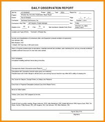 Daily Note Template Extraordinary Daily Construction Blank Safety Report Template Observation