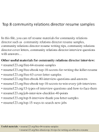 Community Relations Resume Top224communityrelationsdirectorresumesamples224lva224app62249224thumbnail24jpgcb=22424322242772245 9