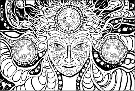 Psychedelic Coloring Pages Best Sun Of And Coloring Pages