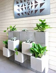 Seating Wall Blocks Diy Projects With Cinder Blocks Ideas Inspirations