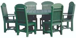 4x6 oval table set green with regular chairs