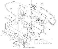 Gravely 917014 000101 22 ton log splitter parts diagram for