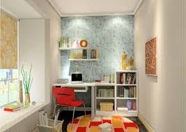 ... small kids study room design idea with wall lights and floral window  shades ...