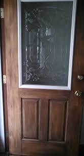 cut out and insert decorative glass window into plain fiberglass door housekaboodle