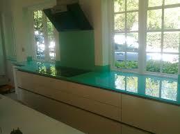 kitchen glass worktop