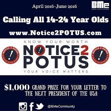 notice potus essay contest for generation igen   peduto for    notice potus essay contest for generation igen flyer
