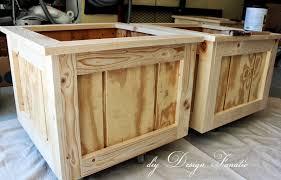 deck planter kreg jig planter boxes wood project building project diydesignfanatic
