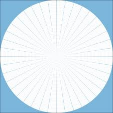 Graph Paper With The Polar Coordinates Filter Digital