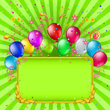 Free Birthday Backgrounds Green Birthday Background With Balloons Gallery