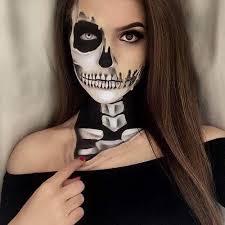 hot skeleton makeup