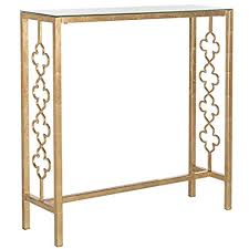 gold console table. Safavieh Home Collection Jovanna Gold Console Table