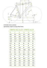 Cannondale Bike Frame Size Chart Lajulak Org