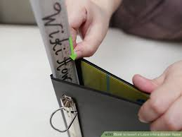 Binder And Spine 3 Ways To Insert A Label Into A Binder Spine Wikihow