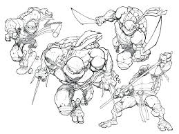 Ninja Turtles Coloring Pages Exclusive Teenage Mutant Line ...