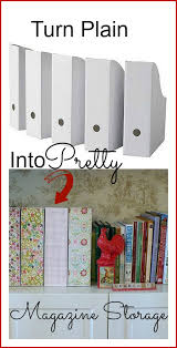 Inexpensive Magazine Holders DIY Pretty Magazine Storage Boxes 2