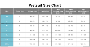 Cressi Wetsuit Size Chart Best Picture Of Chart Anyimage Org
