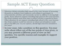 a few easy steps to help you become successful in the world of  5 sample act essay