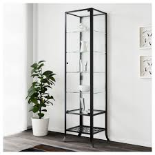 glass cabinet shelves klingsbo door ikea display case shelf brackets bookshelf metal and bathroom corner shower plate made to order bookcase shelving unit