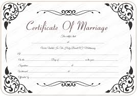 Wedding Certificate Template Stunning Free Printable Marriage Certificate Template Marriage License