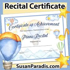 Piano Certificate Template Certificates Archives Susan Paradis Piano Teaching Resources