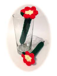 Gehäkelte Weihnachtsstern Stift Abdeckungen Mit Stifte Paar