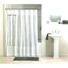 standard shower curtain length height installation liner size