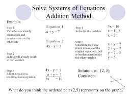 solve systems of equations addition method 1 if necessary rewrite each equation so that the 4 example