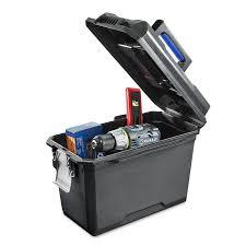 lowes tool bags. kobalt zerust 15.75-in black plastic lockable tool box lowes bags