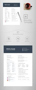 This Is A Free Resume Template The File Format Is Ai Free Resume