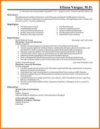 8 Physician Resume Examples Professional Resume List