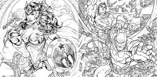 Variant Cover Da Colorare In Gennaio Per Dc Comics