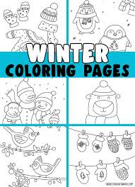 I hope they will like this lovely free printable winter coloring page for kids. Winter Coloring Pages Free Printables The Best Ideas For Kids