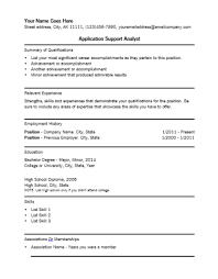 application support resumes