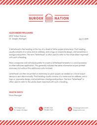Letterhead Design Online Sample Business Letterhead With Logo Exergames Info