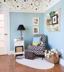 Fancy Decorating Ideas using Black White Motif Fabric Club Chairs and Round  white Rugs also with