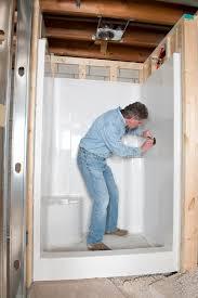 install bathroom. Download Plumber Install Bathroom Shower, Home Remodel Stock Photo - Image Of Handyman, Task