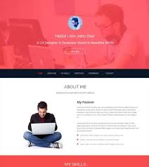 One Page Resume Template Html5
