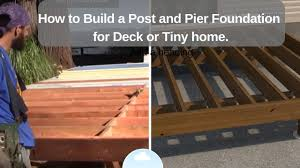 how to build a post and pier foundation