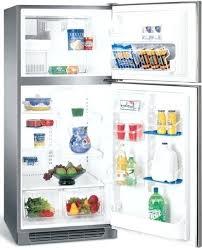refrigerator half freezer freestanding top freezer refrigerator with 4 half width cantilever shelves 2 clear humidity