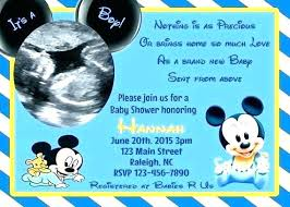 Mickey Mouse Baby Shower Invitations Feat Mickey Mouse Baby Shower