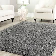 large grey faux fur rug