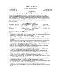 resume samples mechanical design engineer
