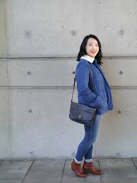 vancouver beauty life and style blogger solo lisa wears a blue sherpa lined
