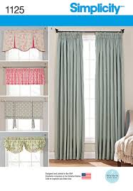 Curtain Sewing Patterns Enchanting Simplicity 48 Window Treatments