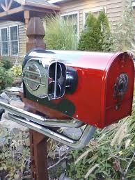custom mailbox. Custom Mailboxes To Match Your Ride. Any Color, With Pipes Or Without. Mailbox I