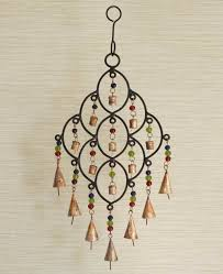 curved stem wind chime with indian