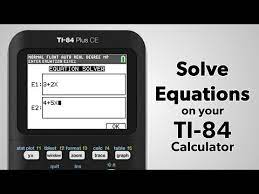 ti 84 plus ce how to solve equations