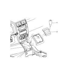 Array gear shift boot knob and bezel for 2008 dodge caliber rh moparpartsgiant