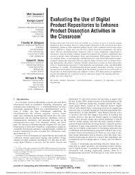 Freshman Design Manual Benenson Pdf A Product And Process Engineering Laboratory For Freshmen
