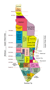 manhattan neighborhoods maps new york city ny for district map of